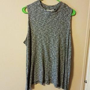Gray plus size sleeveless top